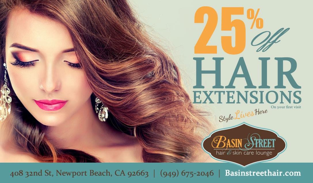 25% off Hair Extension On Your First Visit