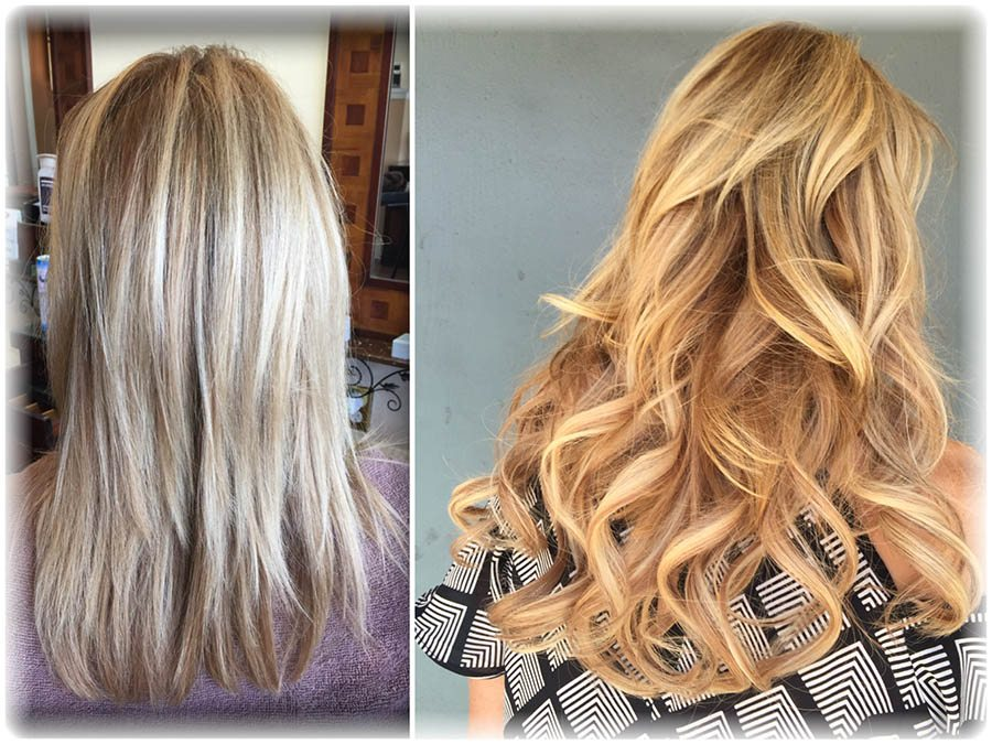 Hair extensions & highlights