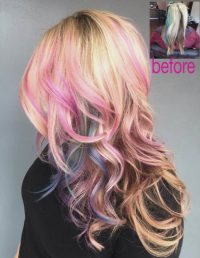 fashion colors hair painting