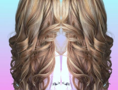High & low light & hair extensions