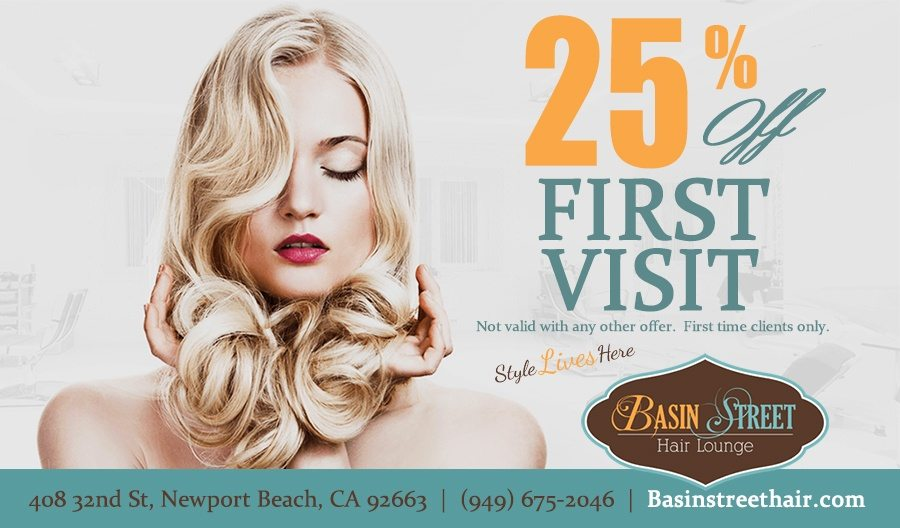 Hair Salon Special 25 percent off first visit first visit