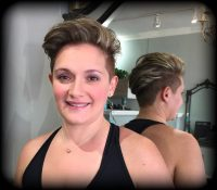 Edgy haircut & high light