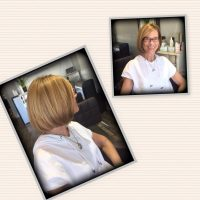 Multi dimensional blonde & bob haircut