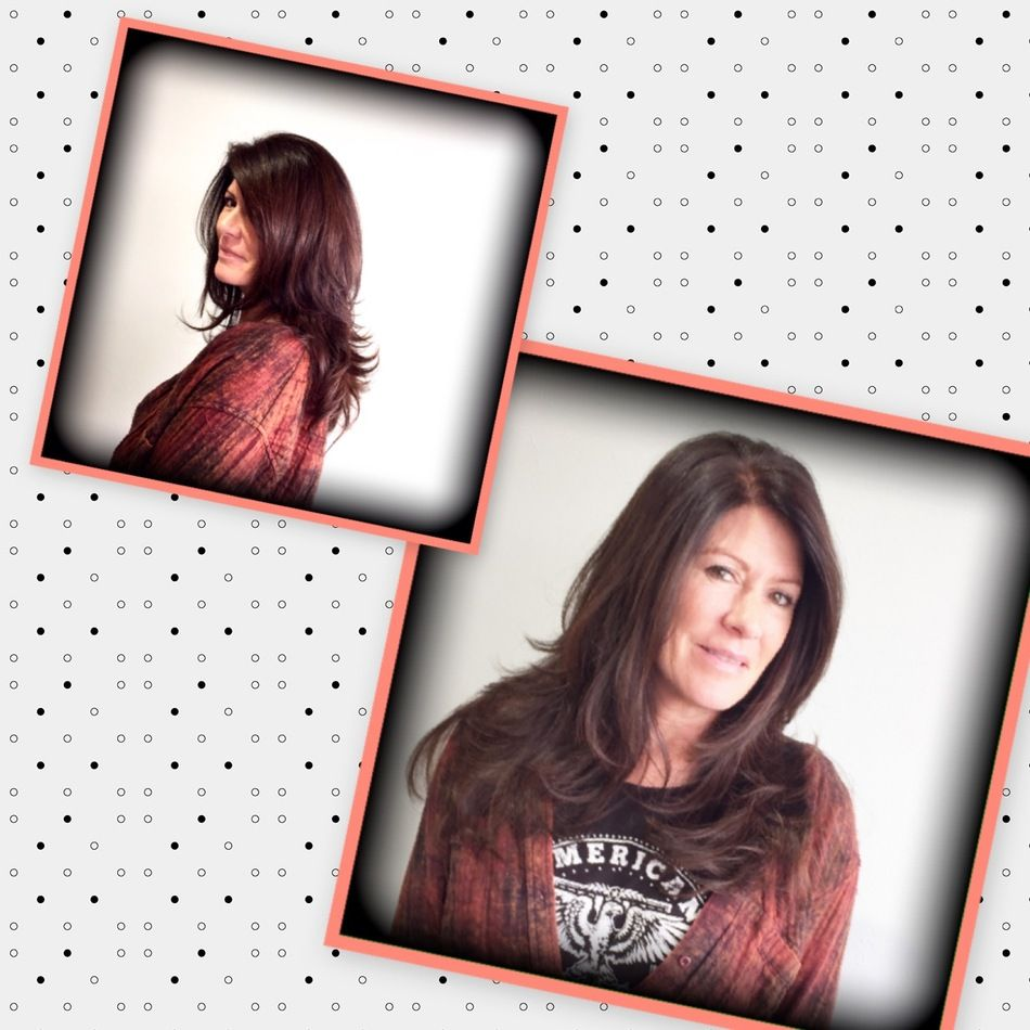 Voluminous Blowout & long layer haircut